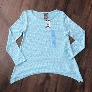 NWT Chelsea & Theodore Sheer Sweater Large